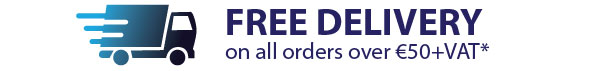 Free delivery on orders over €50+vat